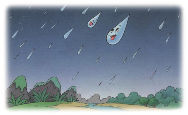 雨点儿 课文插图1